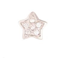Star - Silver & CZ Charm